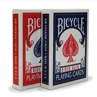 BICYCLE POKER DECK RED/BLUE (disp 12)